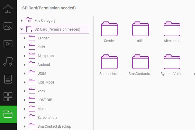 grant permission access to read SD card