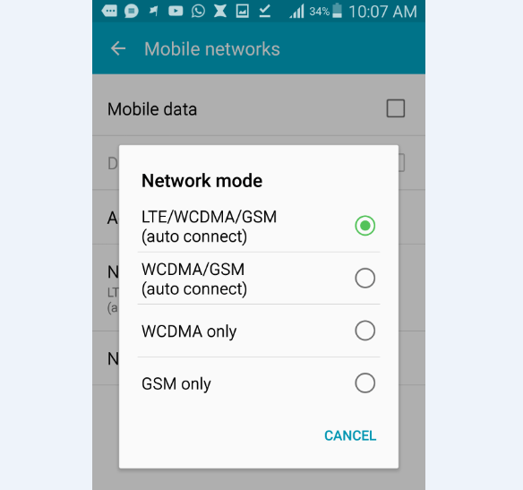 android network mode
