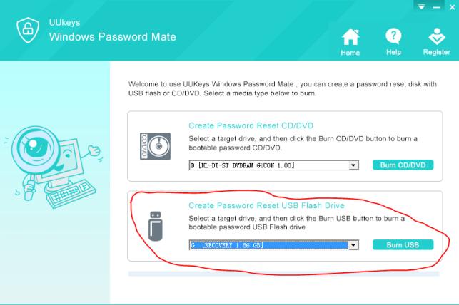 reset Windows Password Password with UUkeys