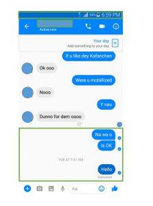 Facebook Messenger message delivered but not read