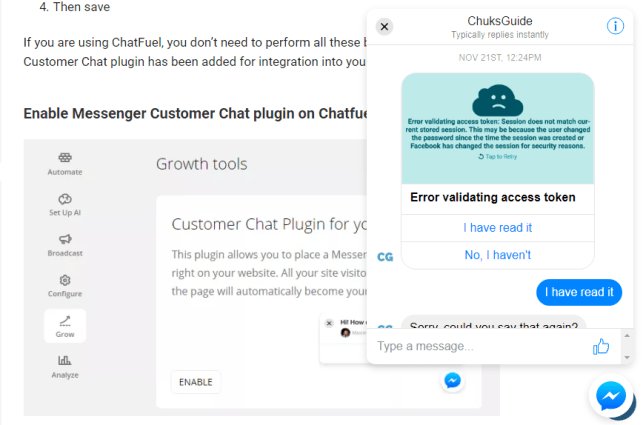 Messenger Customer Chat Plugin Beta