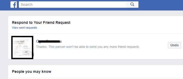 permanently stop that someone from sending you friend request in future?