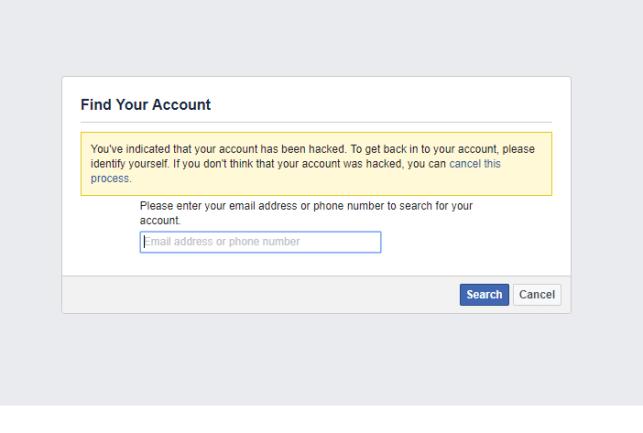 recover restore hacked facebook account