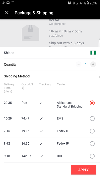 AliExpress Order Tracking