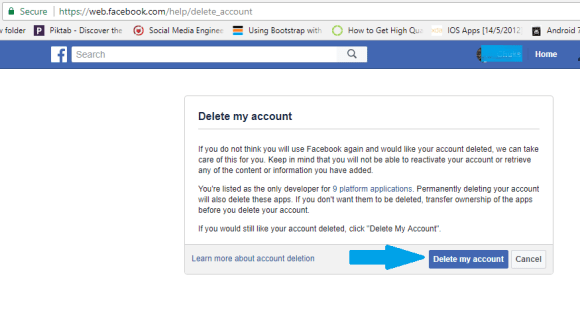 Permanently Delete Facebook Account