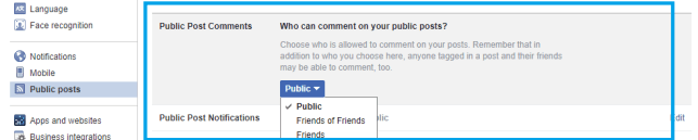 Restrict people that are not your friend on Facebook to comment on your posts