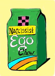 A bag of narcissist ego chow