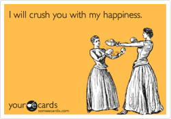 crush with happiness