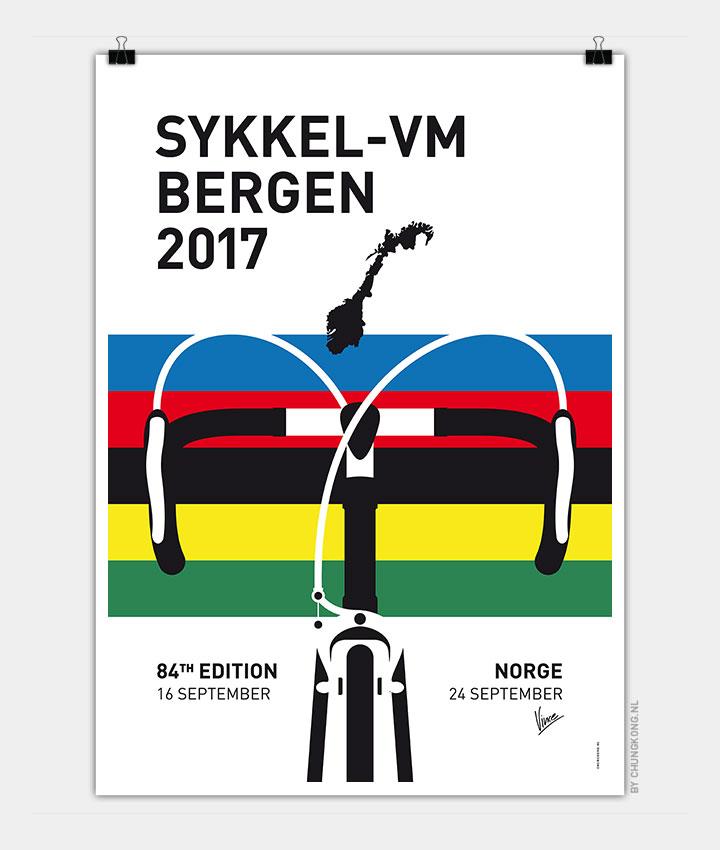 world championships minimal poster 2017