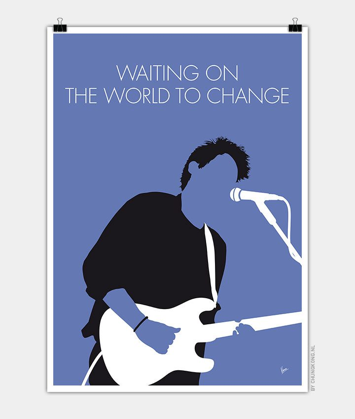john mayer minimal music poster chungkong