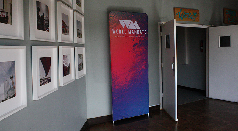 fabric tension banner display