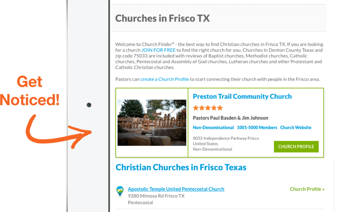 What You Get with ChurchFinder Pro