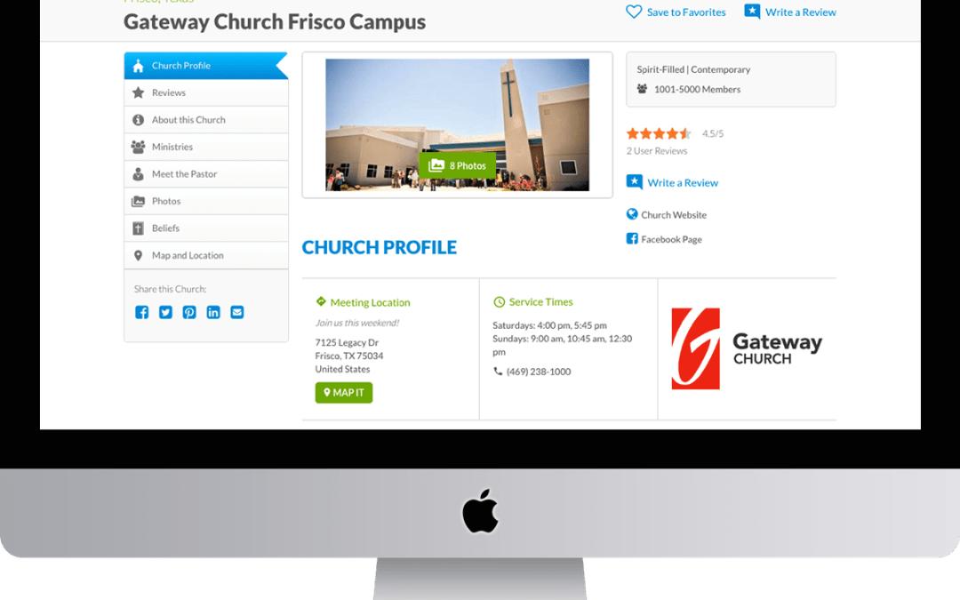 Completing your ChurchFinder Profile