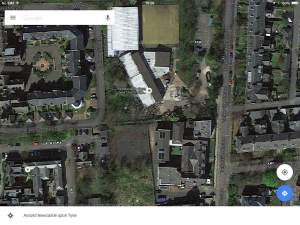 Google Maps images captured on 1st November 2015 clearly showing the first stage of the Junior School demolition being completed on the Church High site.