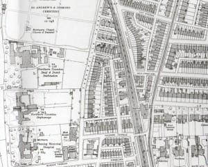 Moor Edge properties, Newcastle High School and Tankerville Terrace, 1895 (www.alangodfreymaps.co.uk)