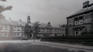 Church High frontage c 1930 showing the new two-storey extension with the bell tower still in situ.
