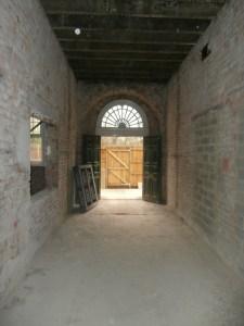 Main entrance hallway looking towards the front door.