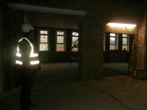 Looking towards the Large and Small Dining Rooms from the kitchen area.