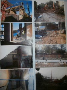 Photos in Westward of the demolition work also show the site of the old stairs (bottom left).