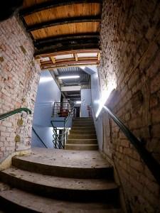 Science stairway as it now appears ...