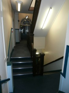 The first floor stairwell and landings as they used to be.