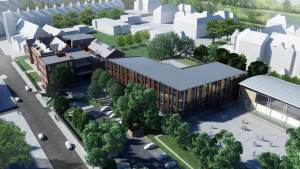 An Artist's Impression of Newcastle High School for Girls.