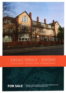 Front cover of the sales brochure.