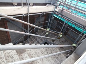 I was amazed to be walking down the new concrete stairs.