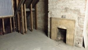 And earlier in January when the original fire-place was discovered.