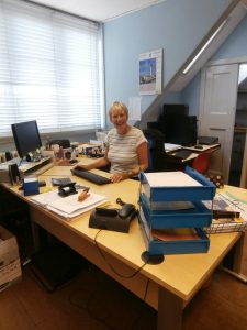 Brenda Cavagnah in her office as we knew it in 2014.