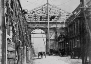 Central Station Portico under construction (reproduced from J&W Lowry's website).