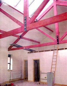 One of the first photographs of the new Art Studio spaces in the Barbour Wing.