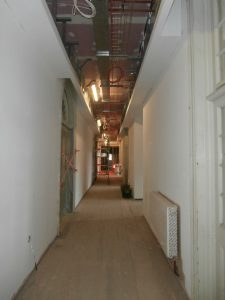 The Main Corridor as of March 30th.