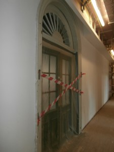 The Hall south door is sealed off today.