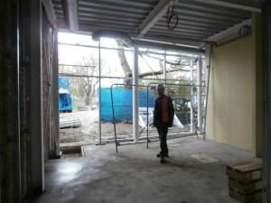 Peter Wilson standing in the Ground Floor Head's Office.