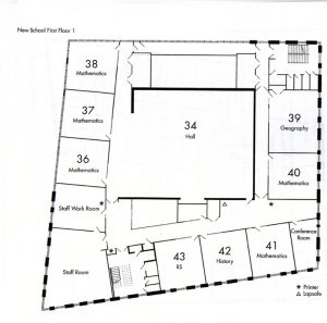 First Floor Floor Plan for the NHSG new building.