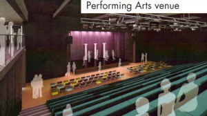 Artist's Impression of the Performing Arts stage area.