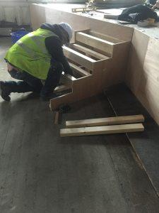 The new bespoke platform steps take shape.
