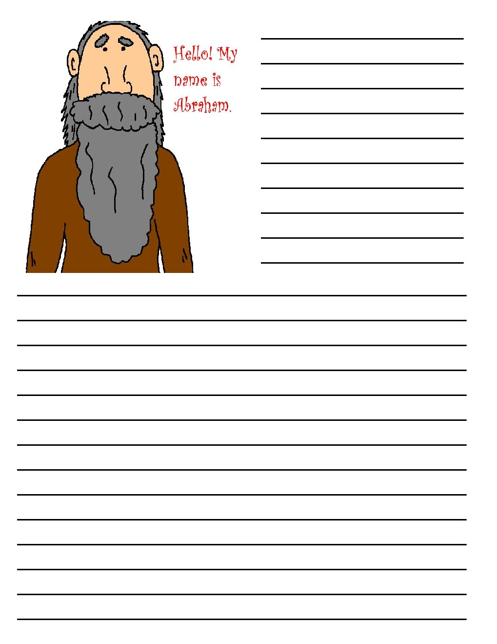 Abraham Printable Writing Paper