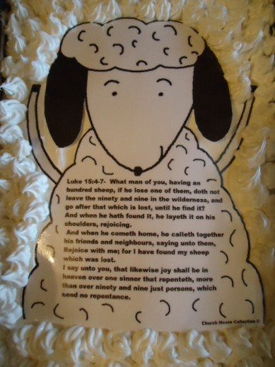 The Parable Of The Lost Sheep Cake