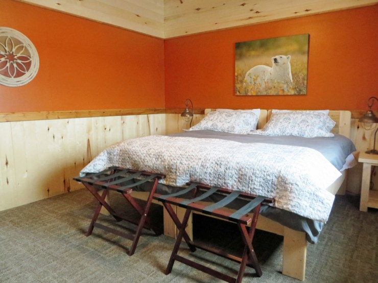Bedroom at Nanuk Polar Bear Lodge. You'll sleep better than the explorers did!