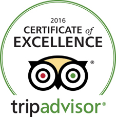 Trip Advisor 2016 Certificate Of Excellence.