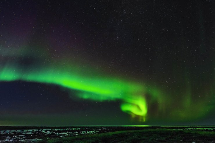 Northern Lights. Seal River Heritage Lodge. Jad Davenport photo.