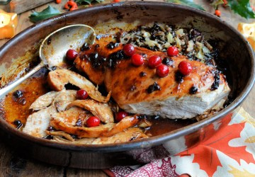 Cranberry Glazed Turkey Breast. Karen Burns-Booth. Lavender and Lovage.