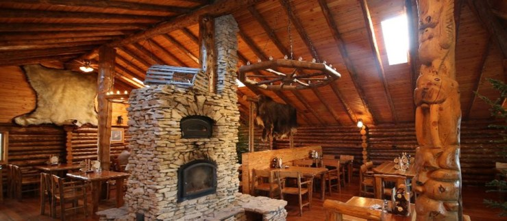 You'll love the ambience of the Lazy Bear Café.