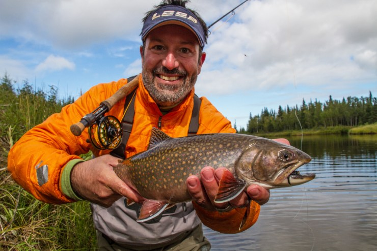 Brian Irwin with trophy brook trout at Nanuk.