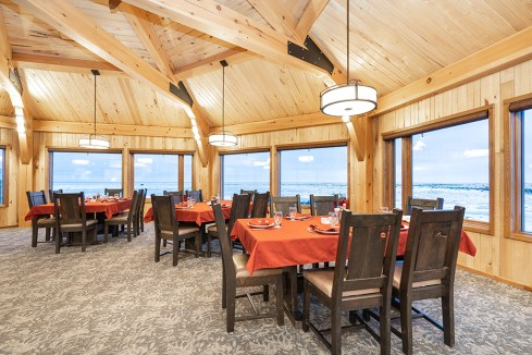 Dining room at Seal River Heritage Lodge. Scott Zielke photo.