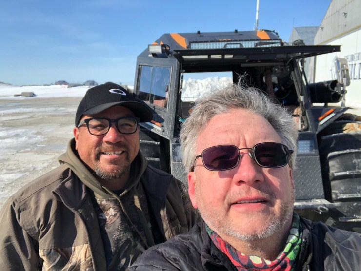 Ready for adventure! Churchill Wild Tour Guide Glen Newstater (front) and Norm Rabiscah.