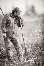 Albert Saunders. Contemplating life at Nanuk. Jad Davenport photo.