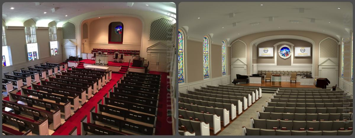 Before Amp After Images Of Church Interiors Projects